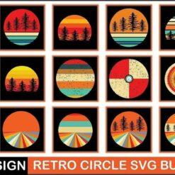 Retro Circle SVG Bundle