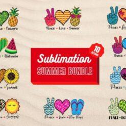 Summer Sublimation Bundle, Summer Sublimation SVG,Summer Sublimation Digital File