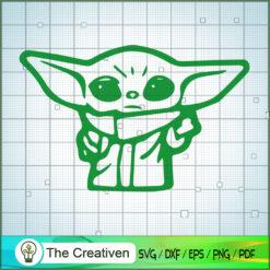 Baby Yoda SVG, Star Wars SVG, The Mandalorian SVG, Baby Yoda Gift SVG