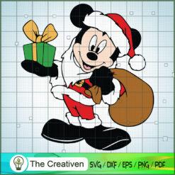 Mickey Santa Claus SVG , Disney Christmas SVG , Disney Mickey SVG, Funny Mickey SVG