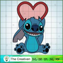 Stitch Heart Love SVG, Funny Stitch SVG, Disney Lilo and Stitch SVG