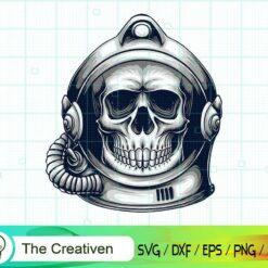 Skull Helmet Astronaut SVG, Skull Helmet Astronaut Digital File, Skull SVG