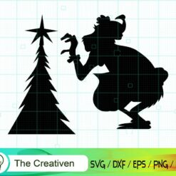 Grinch With Christmas Tree SVG, Grinch SVG, Christmas Tree SVG, Merry Christmas SVG