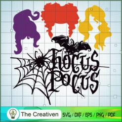 Hocus Pocus Spider Silk SVG, Halloween SVG, Hocus Pocus SVG, Witches SVG