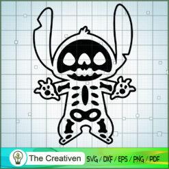 Stitch Skeleton SVG, Funny Stitch SVG, Disney Lilo and Stitch SVG
