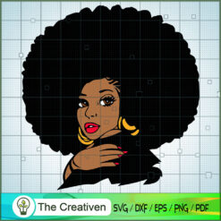 Black Afro Woman Face SVG, Africa Woman SVG, Black Woman SVG