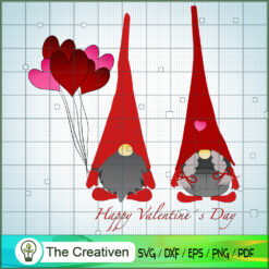 Valentine's Gnomes SVG ,Valentine's SVG, Gnomes SVG