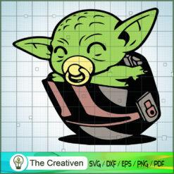 Baby Yoda On Board Funny SVG, Star Wars SVG, The Mandalorian SVG