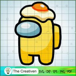 Among Us Egg Hat SVG, Among Us SVG, Game Play SVG, Funny Among Us SVG