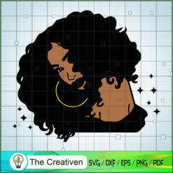 Cool Afro Woman SVG, Africa Woman SVG, Black Woman SVG