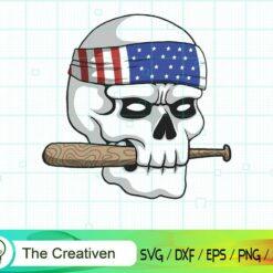 Skull USA Gangster SVG, Skull USA Gangster Digital File, Skull SVG