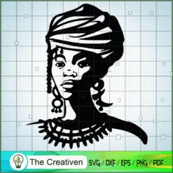 Black Woman Face SVG, Africa Woman SVG, Black Woman SVG