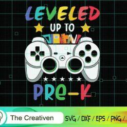 Leveled Up to Pre-K Game Controller SVG, Leveled Up to Pre-K Game Controller Digital File, Back to School Controller SVG
