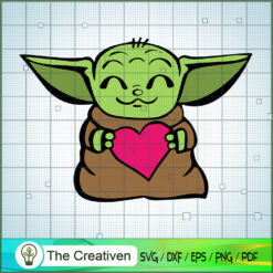 Baby Yoda Take a Hear Colorful SVG, Star Wars SVG, The Mandalorian SVG