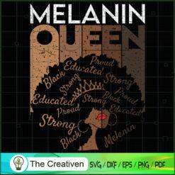 Melanin Queen African American Black SVG , Black Women SVG, African American SVG, Black History SVG, Black Girl SVG