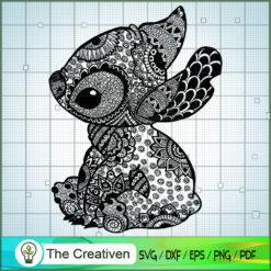 Stitch Flower SVG, Funny Stitch SVG, Disney Lilo and Stitch SVG