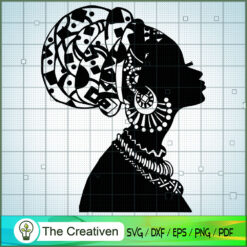 Shadow Of Afro Woman SVG, Africa Woman SVG, Black Woman SVG