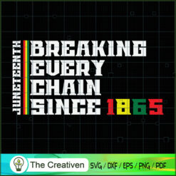 Breaking Every Chain Since 1865 SVG, Life Quotes SVG, Afro-American SVG