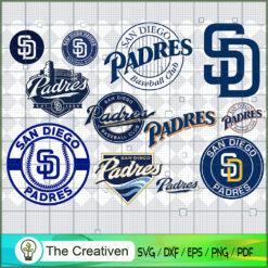 San Diego Padres SVG PNG EPS DXF – Baseball Lovers Cricut Cameo File Silhouette Art , Baseball SVG , MLB SVG