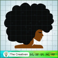 Afro Girl SVG, Africa Woman SVG, Black Woman SVG