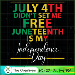 July 4th Didn't Set Me Free SVG, Life Quotes SVG, Afro-American SVG
