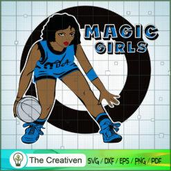Magic Girl NBA Champion SVG, NBA Girl, Afro Woman SVG, Black Woman SVG