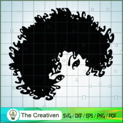Afro Hair Woman SVG, Africa Woman SVG, Black Woman SVG