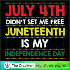 Juneteenth is My Independence Day SVG, Life Quotes SVG, Afro-American SVG