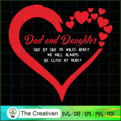 Dad and Daughter Side by Side SVG, Daddy SVG, Father SVG
