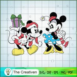 Mickey and Minnie SVG , Disney Christmas SVG , Disney Mickey SVG, Funny Mickey SVG