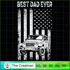 Best Jeep Dad Ever SVG, Daddy SVG, Father SVG