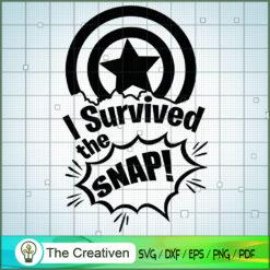 I Survived The Snap! Captain Ameria SVG, Avengers SVG, Movie SVG, Super Hero SVG