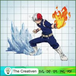 Shoto Todoroki SVG , Class 1-A SVG, My Hero Academy Movie SVG