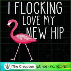 Flocking Hip Funny Pink Flamingo SVG, Animal Lover SVG, Flamingo SVG