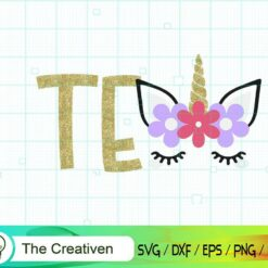 Tenth Birthday Unicorn SVG, Tenth Birthday Unicorn Digital File, Unicorn Number SVG