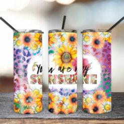 20oz Skinny Tumbler Floral Sunshine