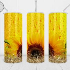 20oz Tumbler Wrap Sunflower sublimation