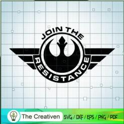 Join The Resistance SVG, Star Wars SVG, Logo SVG