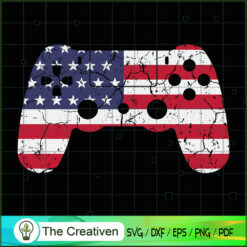 4th of July Video Game Gamer USA SVG , Christmas 4th of July SVG , 4th of July SVG , Christmas SVG
