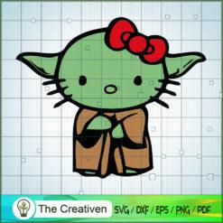 Yoda Kitty SVG, Star Wars SVG, The Mandalorian SVG