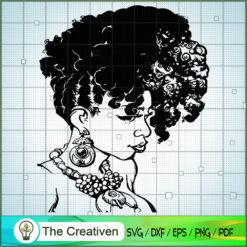 Black Woman Curly Hair SVG, Africa Woman SVG, Black Woman SVG