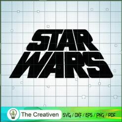 Star War Text Logo SVG, Star Wars SVG, Star Wars Logo SVG