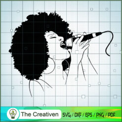 Black Woman Singing SVG, Africa Woman SVG, Black Woman SVG