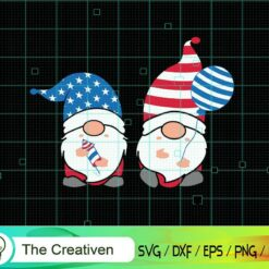 4th of July Gnomes American Flag SVG , US Flag SVG, 4th of July SVG , Gnomes SVG