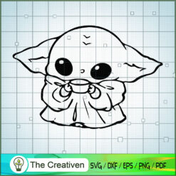 Baby Yoda Take A Mug SVG, Star Wars SVG, The Mandalorian SVG, Grogu SVG