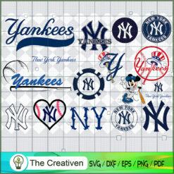 New York Yankees SVG PNG EPS DXF – Baseball Lovers Cricut Cameo File Silhouette Art , Baseball SVG , MLB SVG