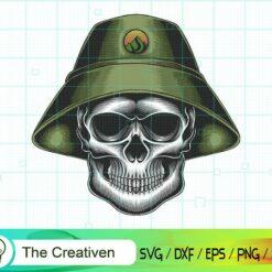Skull Bucket Hat SVG, Skull Bucket Hat Digital File, Skull SVG