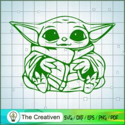 Baby Yoda Sit SVG, Star Wars SVG, The Mandalorian SVG