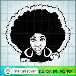 Afro Woman Face SVG, Africa Woman SVG, Black Woman SVG