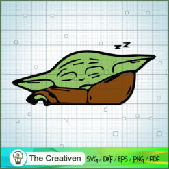 Baby Yoda Sleep SVG, Star Wars SVG, The Mandalorian SVG, Grogu SVG